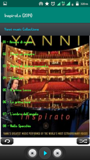 Yanni Album Full screenshot 1