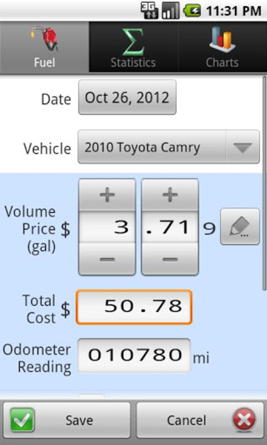 GasLog - Gas Mileage Tracker screenshot 2