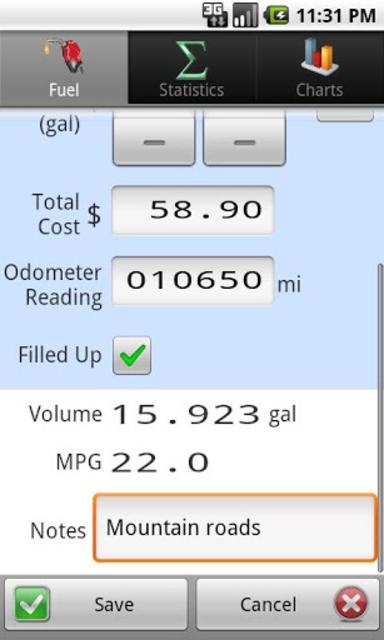 GasLog - Gas Mileage Tracker screenshot 3