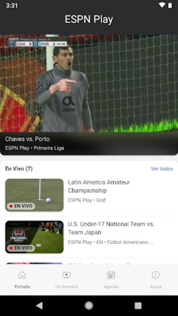 ESPN Play screenshot 1