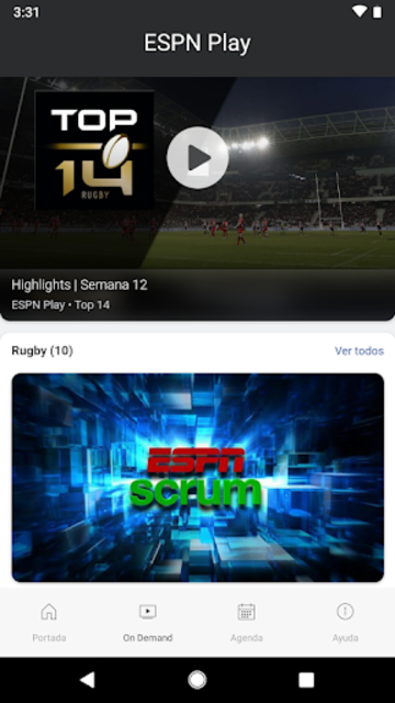 ESPN Play screenshot 2