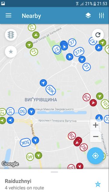 EasyWay public transport screenshot 1