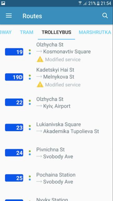 EasyWay public transport screenshot 3