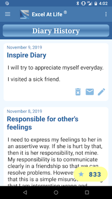 CBT Tools for Healthy Living Self-help Diary screenshot 4