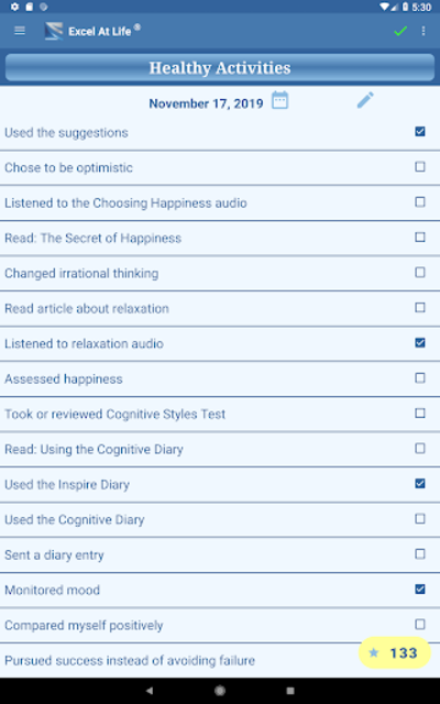 CBT Tools for Healthy Living Self-help Diary screenshot 9