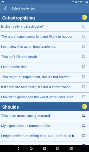 CBT Tools for Healthy Living Self-help Diary screenshot 12