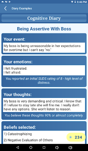 CBT Tools for Healthy Living Self-help Diary screenshot 14