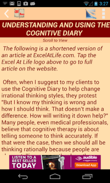 CBT Tools for Healthy Living Self-help Diary screenshot 3