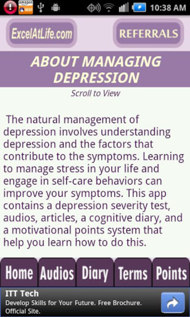 Depression CBT Self-Help Guide screenshot 2