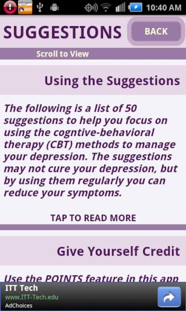 Depression CBT Self-Help Guide screenshot 4