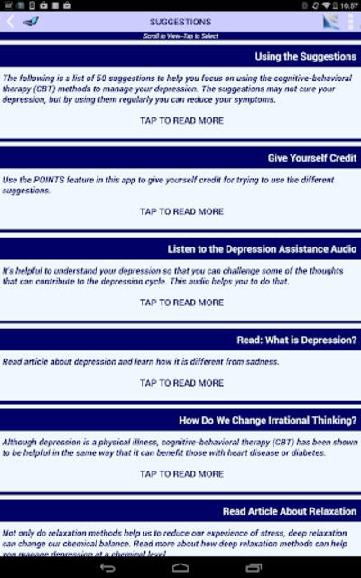 Depression CBT Self-Help Guide screenshot 10