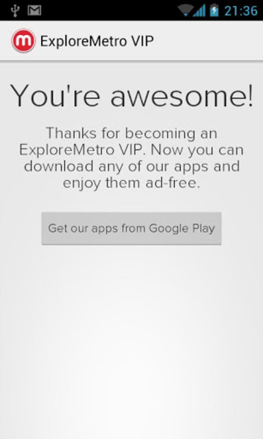 ExploreMetro VIP screenshot 1