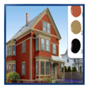 Icon for exterior house paint