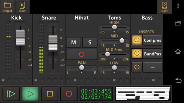 Audio Evolution Mobile Studio screenshot 2