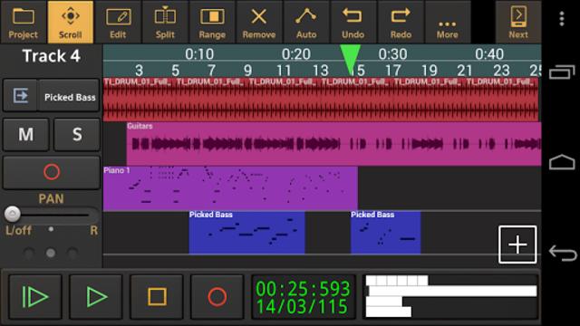 Audio Evolution Mobile Studio TRIAL screenshot 1
