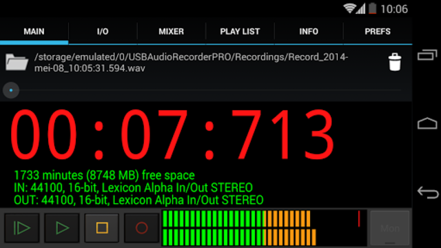 USB Audio Recorder PRO screenshot 2