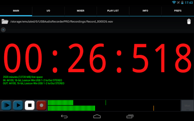 USB Audio Recorder PRO screenshot 14