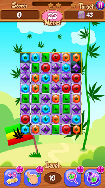 Crush Weed Match 3 Candy Jewel - cool puzzle games screenshot 20