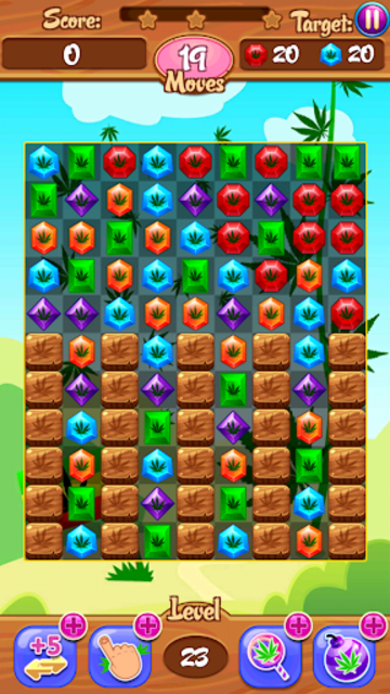 Crush Weed Match 3 Candy Jewel - cool puzzle games screenshot 21