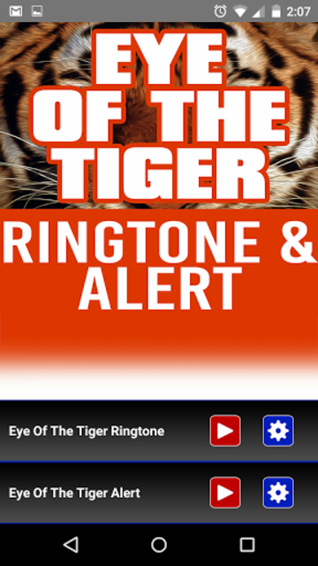 Eye of the Tiger Ringtone screenshot 1