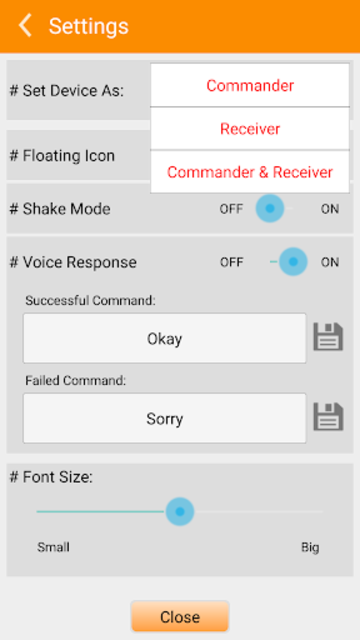 Broadlink IHC Voice Plugin screenshot 2