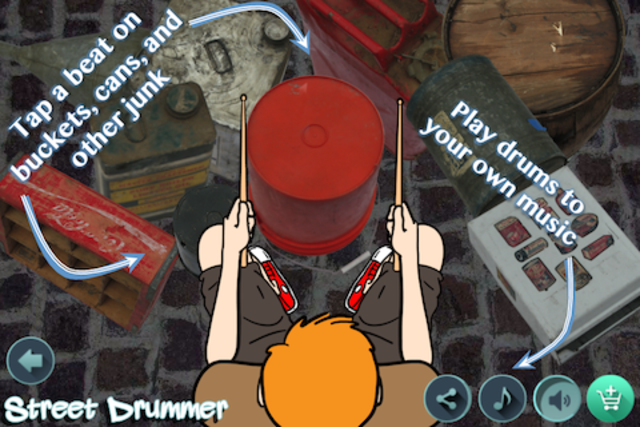 Street Drummer - bucket beats screenshot 1