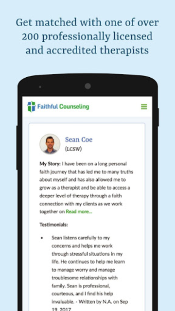 Faithful Counseling - Christian Based Therapy screenshot 4