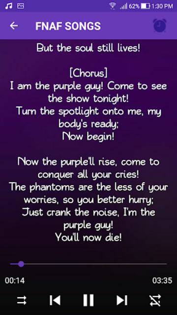 Lyrics FNAF 1 2 3 4 5 6 Songs Free screenshot 6