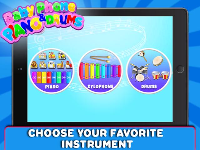 Baby Phone Piano & Drums - Music Instruments screenshot 3