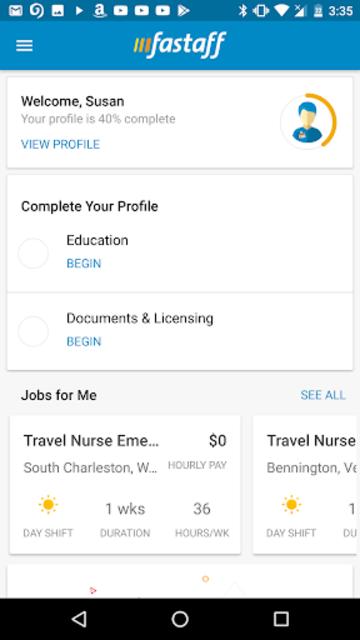 Fastaff: Travel Nursing screenshot 1