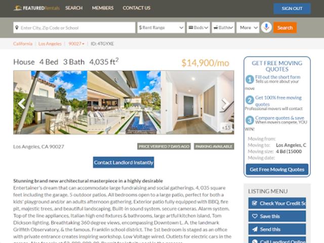 Featured Rentals: Apartments & Homes screenshot 12