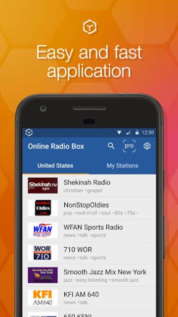 Online Radio Box - free player screenshot 1