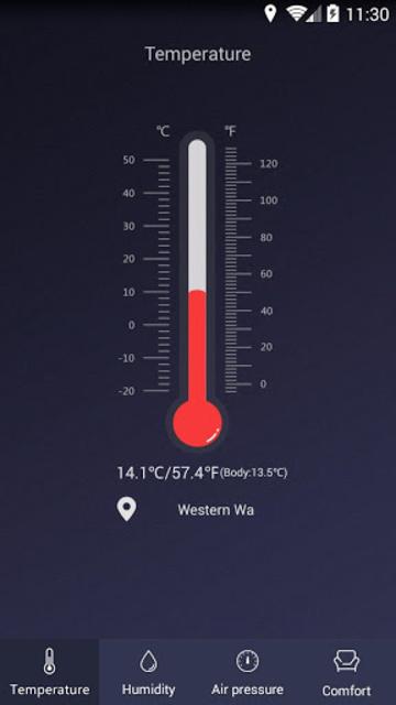 Thermometer - Hygrometer & Ambient Temperature app screenshot 1