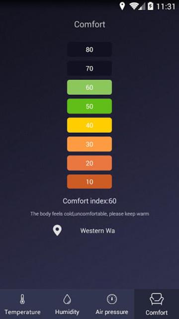 Thermometer - Hygrometer & Ambient Temperature app screenshot 4