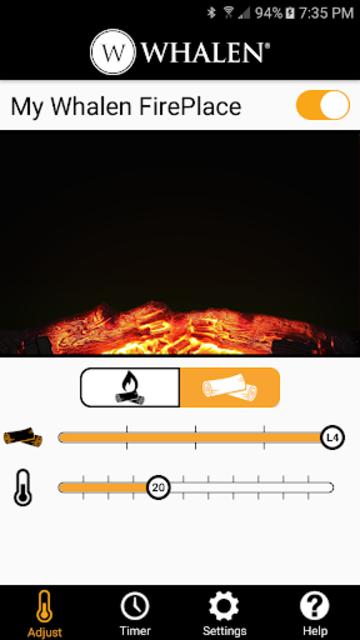 Whalen Fireplace Bluetooth App screenshot 1