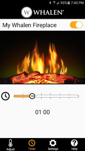 Whalen Fireplace Bluetooth App screenshot 2