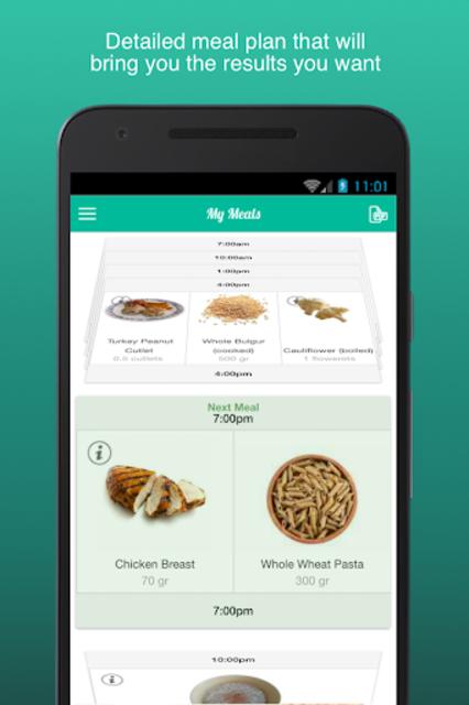 Fitness Meal Planner screenshot 1