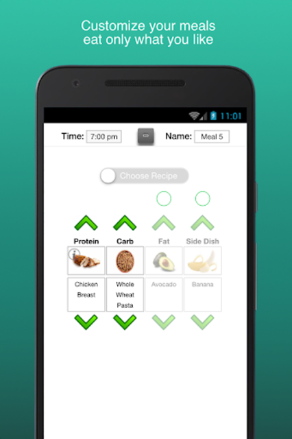Fitness Meal Planner screenshot 2
