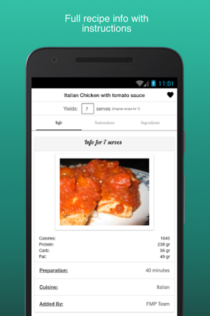Fitness Meal Planner screenshot 7