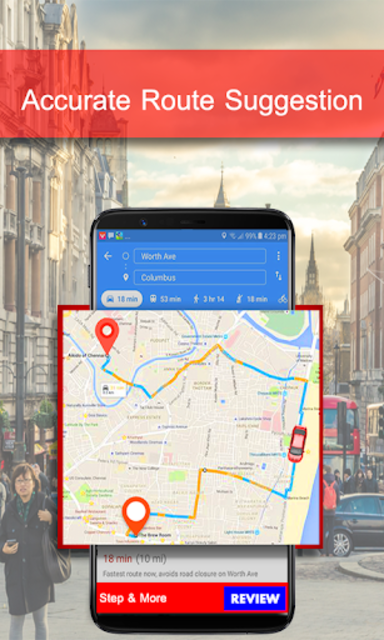 GPS Maps Navigation & Route Finder Live Direction screenshot 3