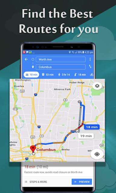 GPS Maps Navigation & Direction Route Finder Free screenshot 2