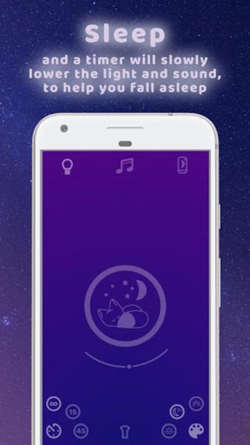 Dreaming Fox - nightlight, sleep music, meditation screenshot 3