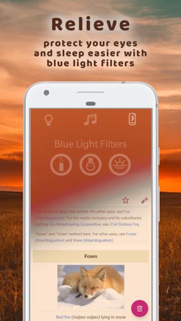 Dreaming Fox - nightlight, sleep music, meditation screenshot 4
