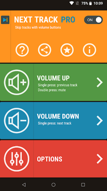 Next Track: Skip tracks with volume buttons screenshot 1