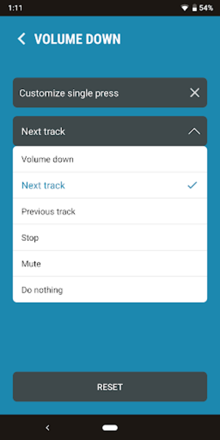 Next Track: Skip tracks with volume buttons screenshot 2