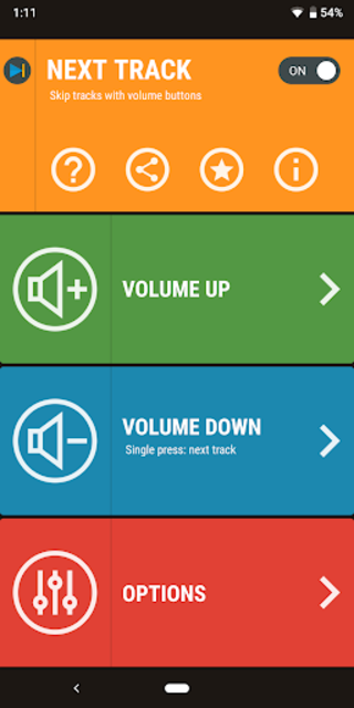 Next Track: Skip tracks with volume buttons screenshot 5