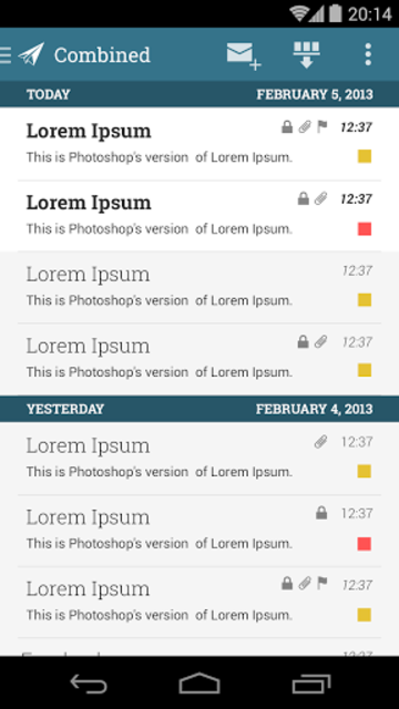 MailDroid Themes Plugin screenshot 1