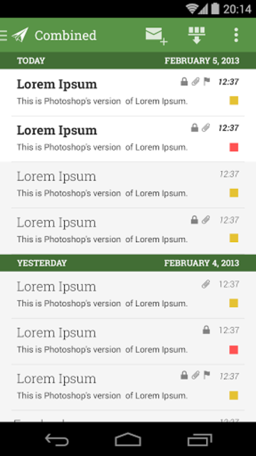 MailDroid Themes Plugin screenshot 2