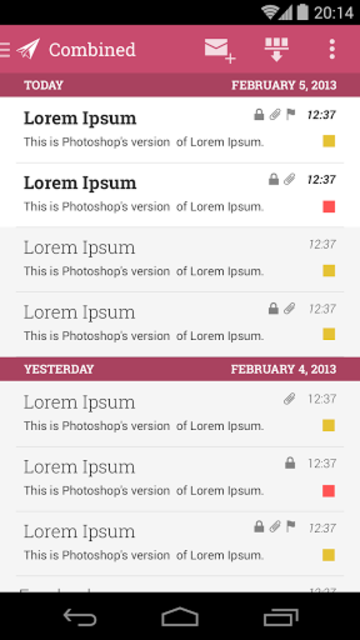 MailDroid Themes Plugin screenshot 4