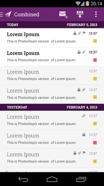 MailDroid Themes Plugin screenshot 5
